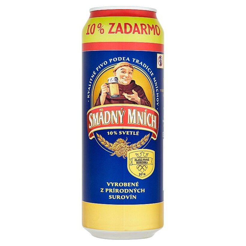 Smädný Mních 10% pivo výčapné svetlé 550 ml