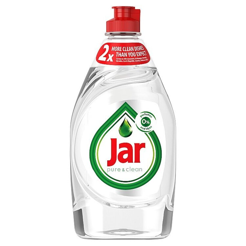 Prostriedok na umývanie riadu Jar Pure & Clean s 0 % parfumov a farbív 450ML