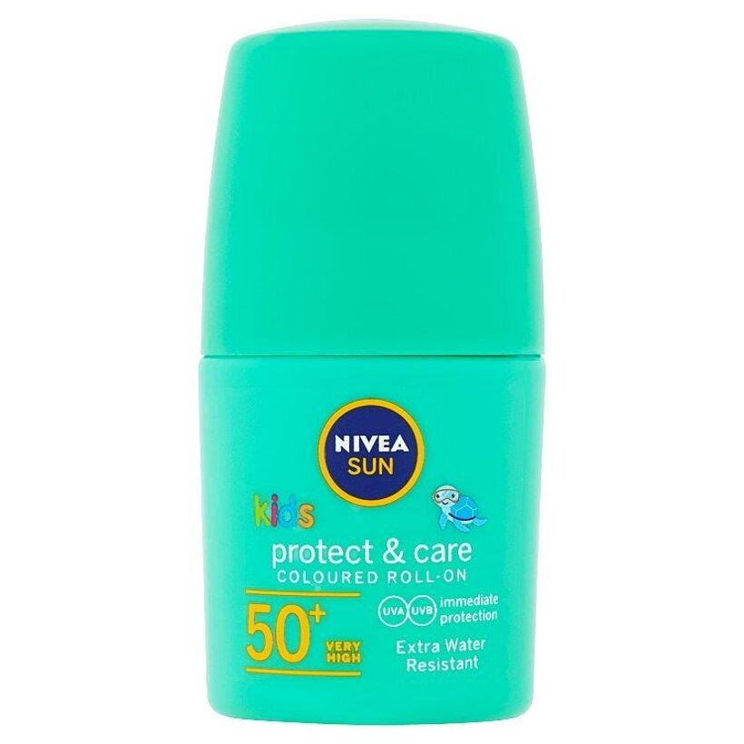 Nivea Sun Protect & Care Detské farebné mlieko na opaľovanie v guľôčke OF 50 + 50 ml