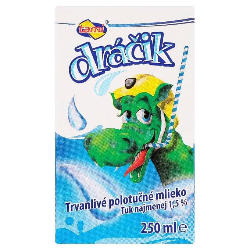 Tami Dráčik Trvanlivé polotučné mlieko 250 ml