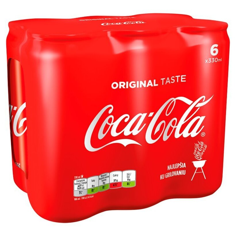 Coca-Cola, 6 x 330 ml