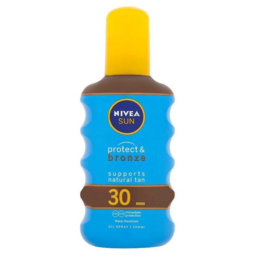 Nivea Sun Protect & Bronze Olej na opaľovanie v spreji podporujúci zhnednutie OF 30 200 ml