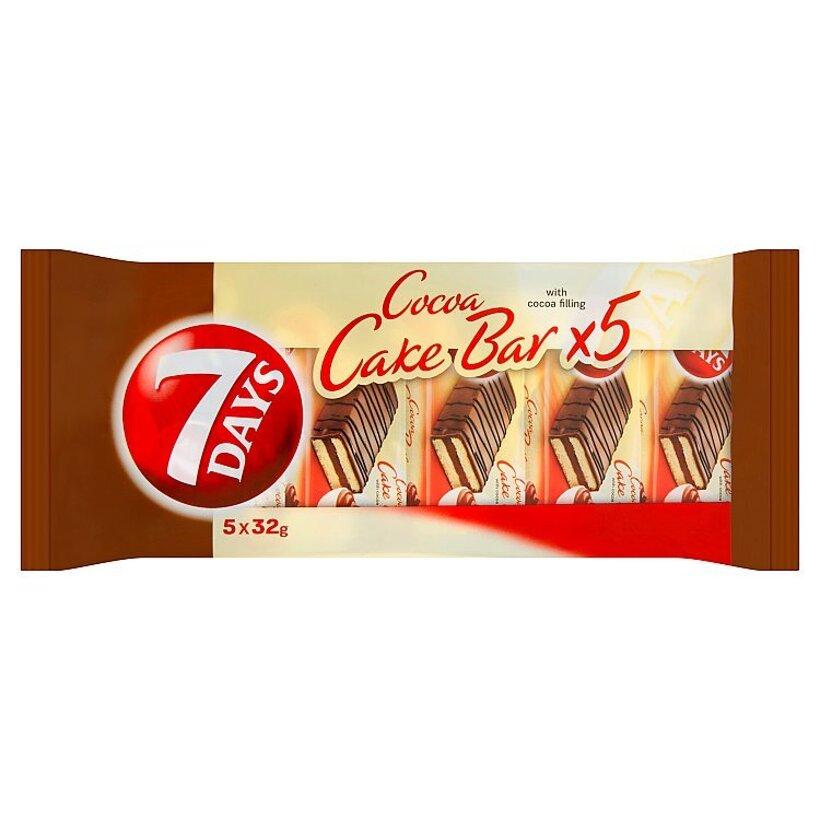 7 Days Cake bar s kakaovou náplňou s čokoládovou polevou 5 x 32 g