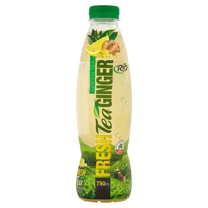 RIO FRESH Zelený čaj & zázvor nesýtený nealkoholický nápoj s kúskami zázvoru 750 ml