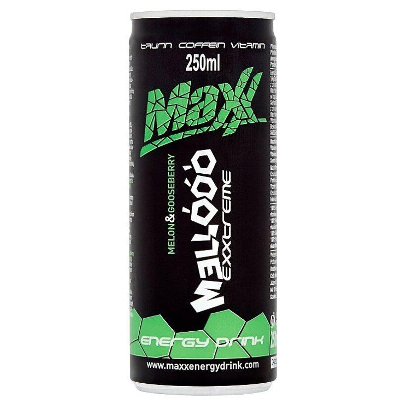 Maxx Exxtreme Mellóóó sýtený energetický nápoj s príchuťou melónu a egreša 250 ml