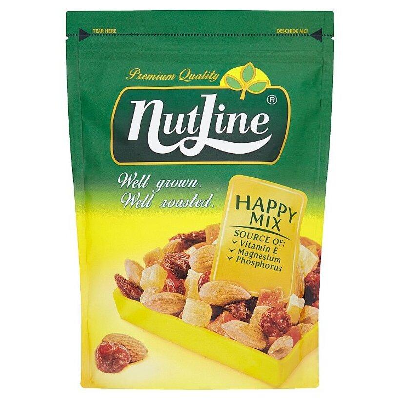 Nutline Happy Mix zmes mandlí, presladeného ovocia a hrozienok 150 g