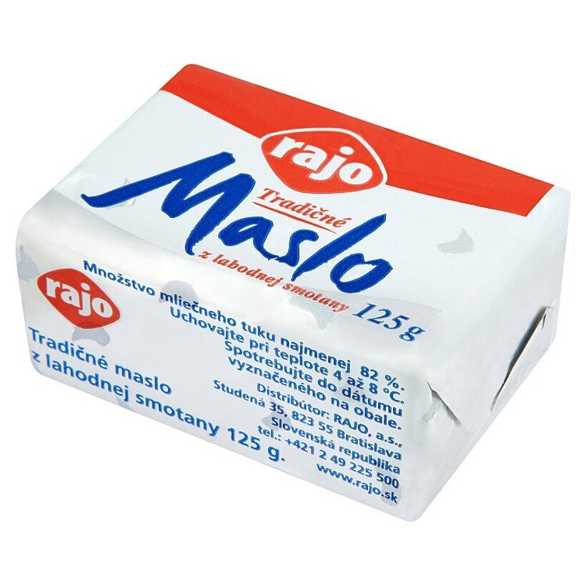 Rajo Tradičné maslo z lahodnej smotany 125 g
