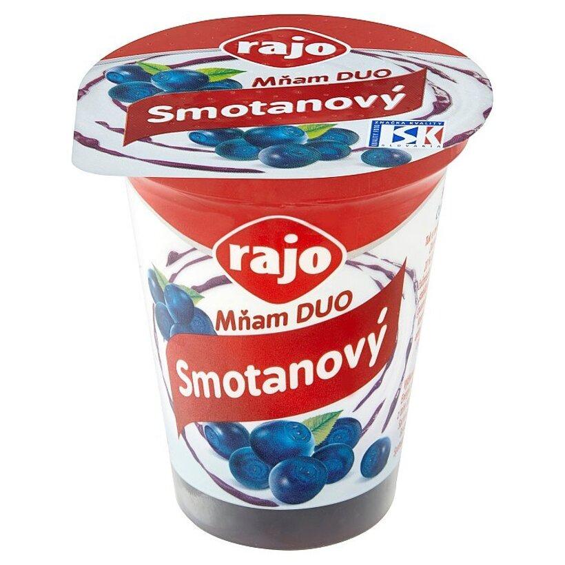 Rajo Mňam Duo Smotanový jogurt čučoriedkový 145 g