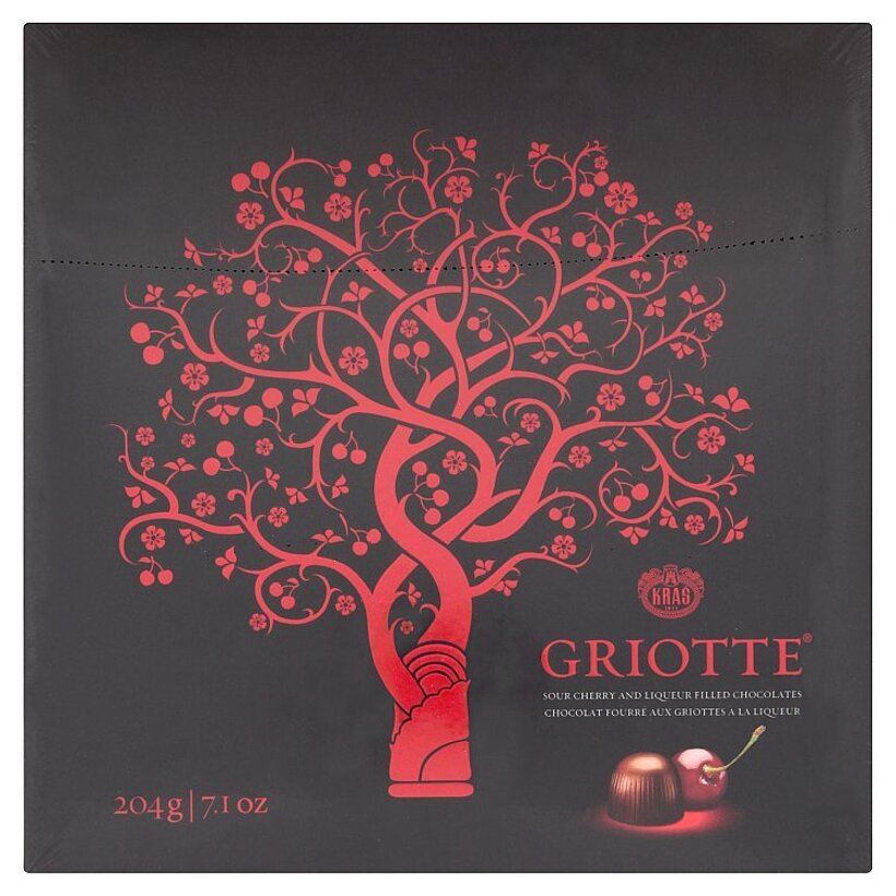 Kraš Griotte Čokoládové bonbóny plnené višňami a likérom 204 g
