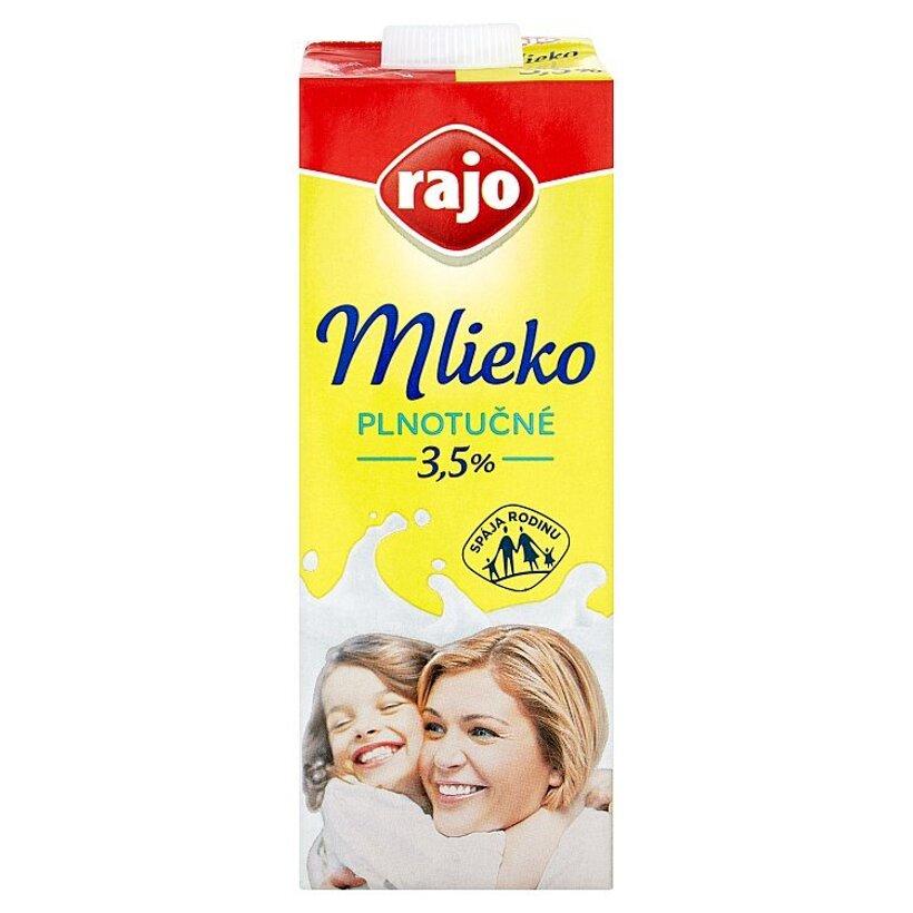 Rajo Trvanlivé mlieko plnotučné 1 l