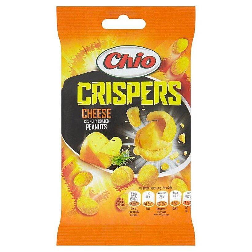 Chio Crispers Cheese arašidy lúpané pražené obalené v cestičku z príchuťou syra 65 g