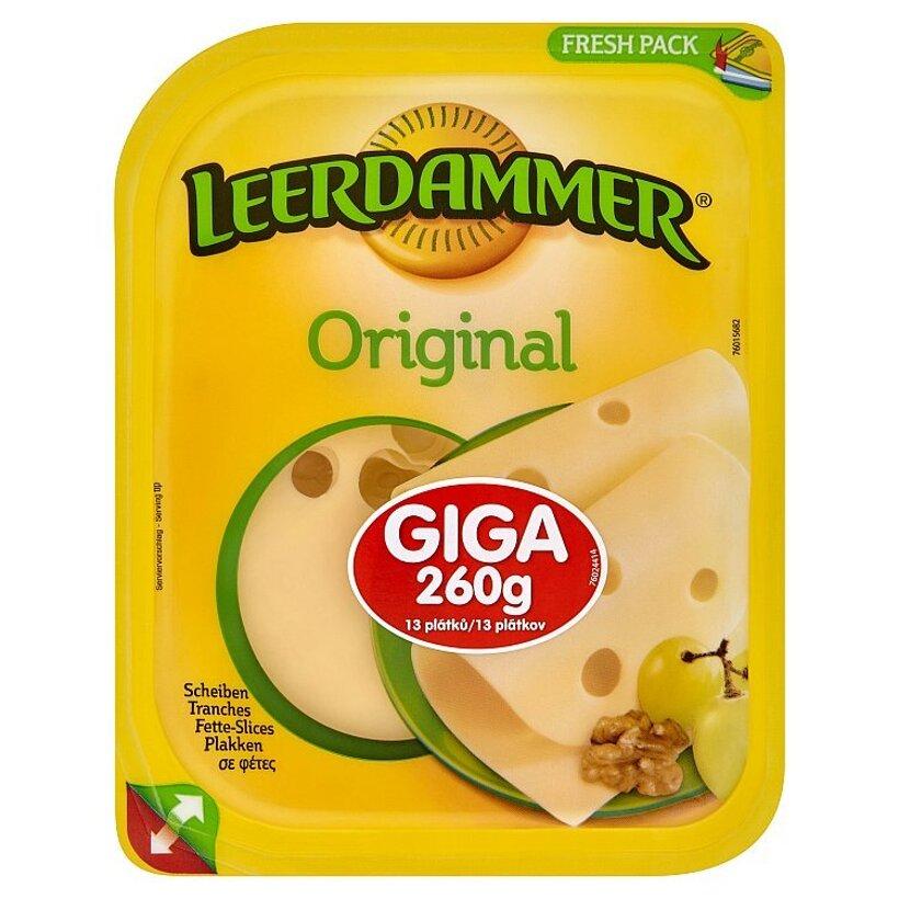 Leerdammer Original holandský polotvrdý syr 260 g
