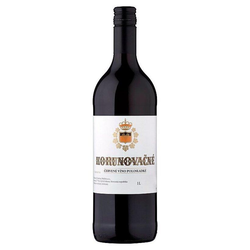 Korunovačné červené víno polosladké 1 l