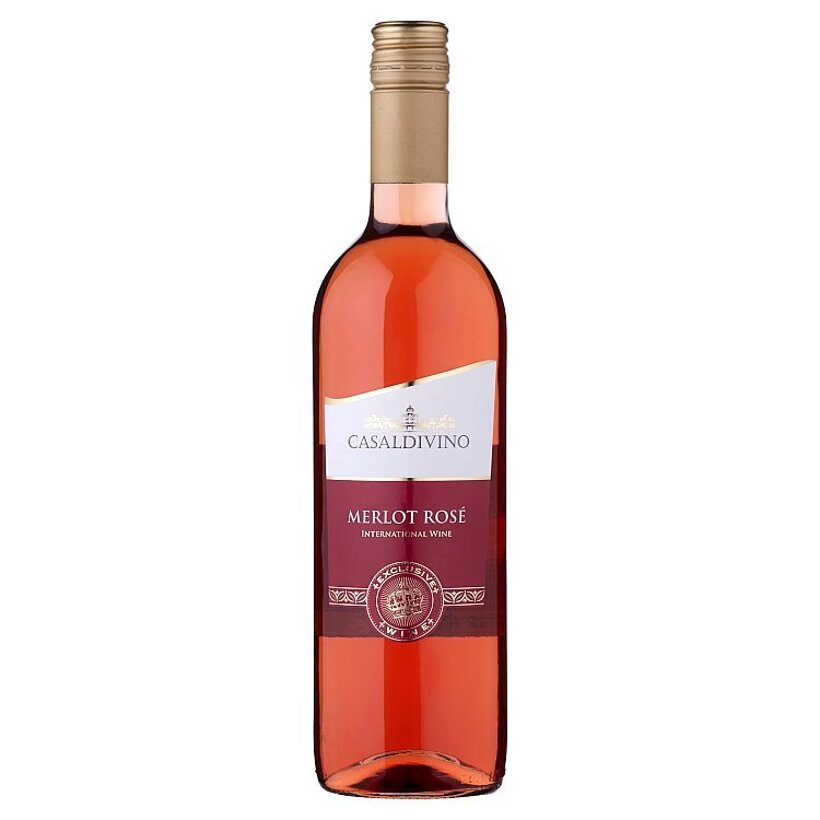 Casaldivino Merlot rosé víno ružové suché 0,75 l