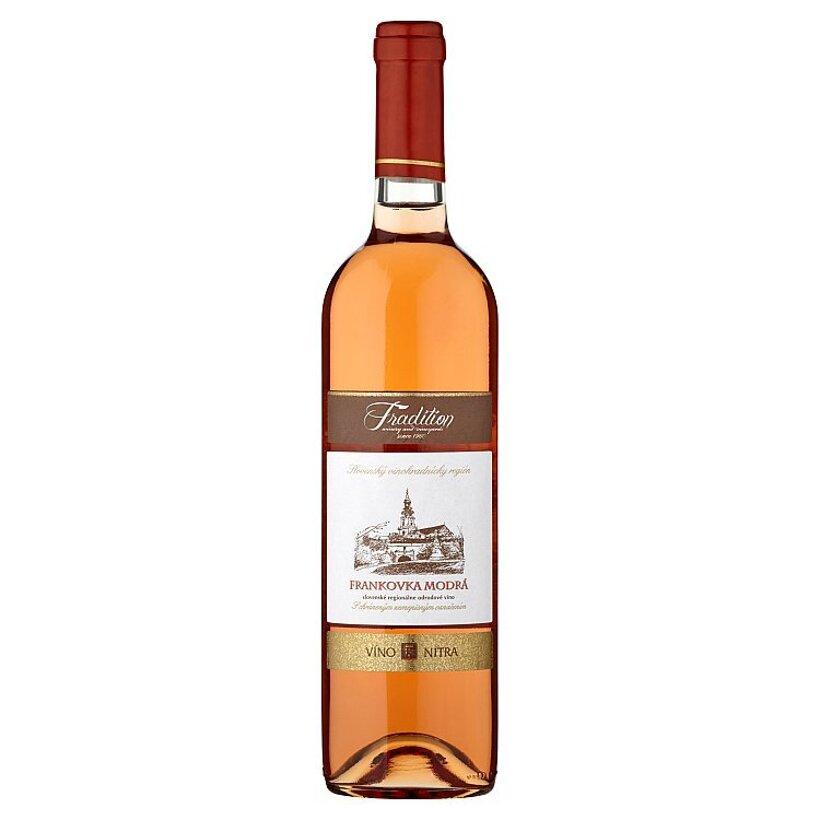 Víno Nitra Tradition Frankovka modrá víno ružové suché 0,75 l