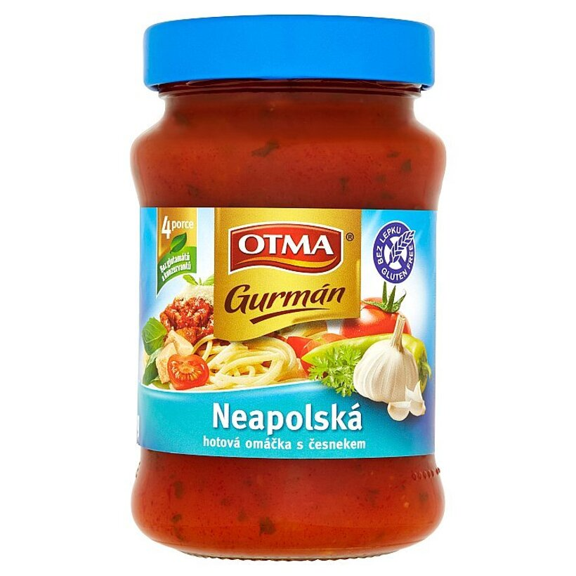 Otma Gurmán Neapolská hotová omáčka s cesnakom a príchuťou parmezánu 350 g