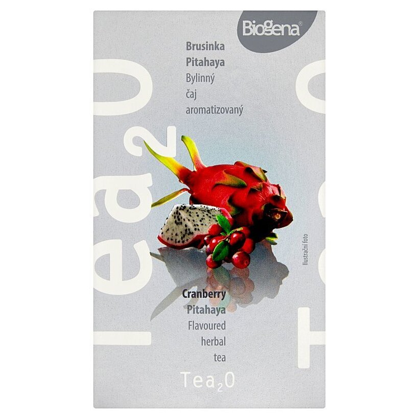 Biogena Tea₂O Brusnica & pitahaya bylinný čaj aromatizovaný 20 x 2,5 g