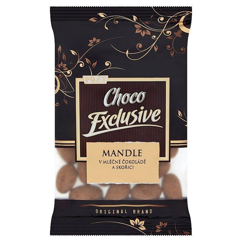 Poex Choco Exclusive Pražené jadrá mandlí v mliečnej čokoláde a škorici 150 g