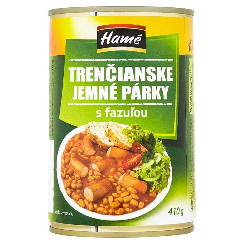 Hamé Trenčianske jemné párky s fazuľou 410 g