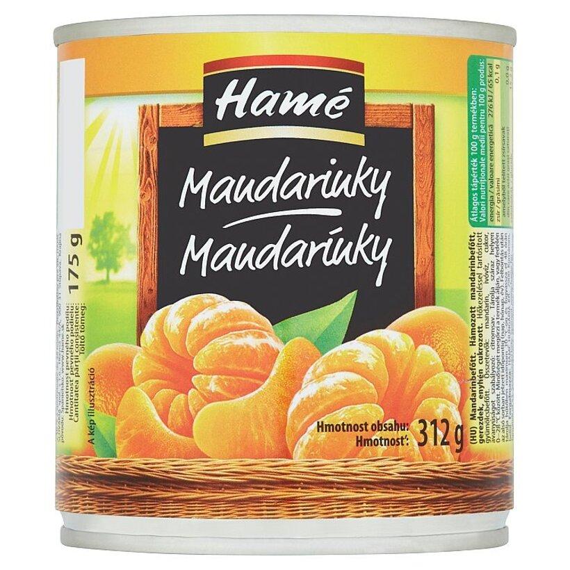 Hamé Mandarínky 312 g