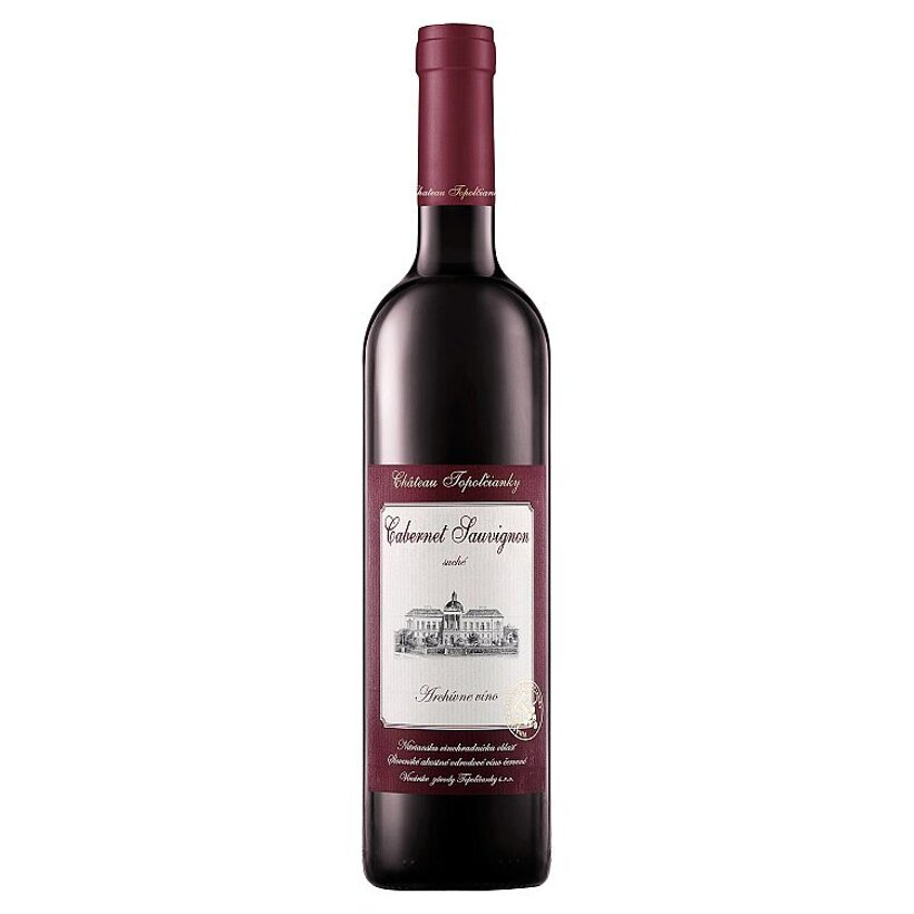 Château Topoľčianky Cabernet Sauvignon slovenské akostné odrodové víno červené suché 0,75 l