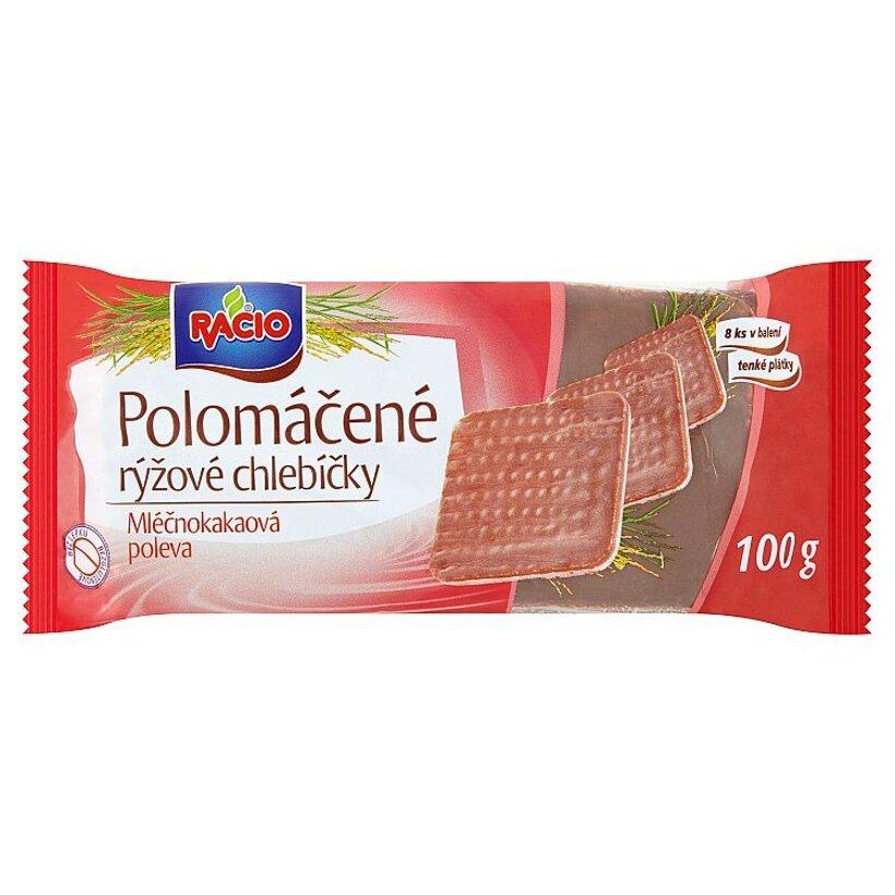 Racio Polomáčané ryžové chlebíčky mliečnokakaová poleva 100 g