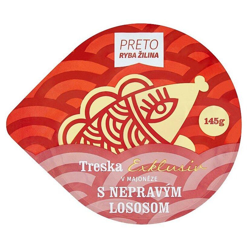 Ryba Žilina Preto Exklusiv treska v majonéze s nepravým lososom 145 g