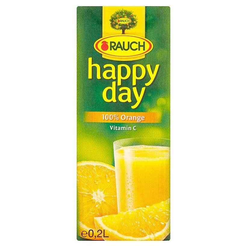 Rauch Happy Day 100% pomarančová šťava 0,2 l