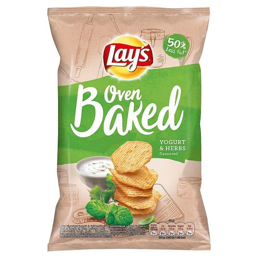 Lay's Pečené zemiakové lupienky s príchuťou jogurtu a byliniek 65 g