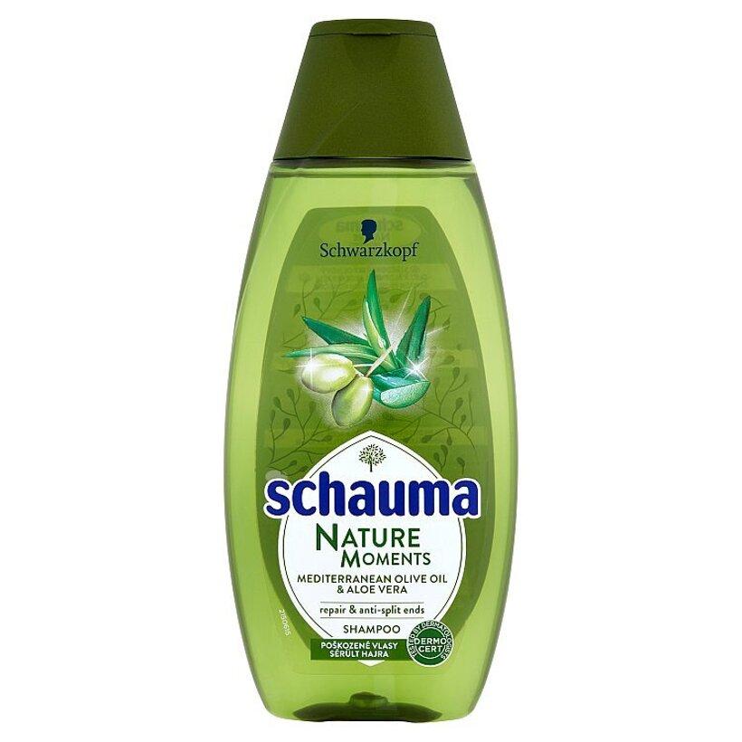 Schauma Nature Moments regeneračný šampón proti štiepeniu končekov 400 ml