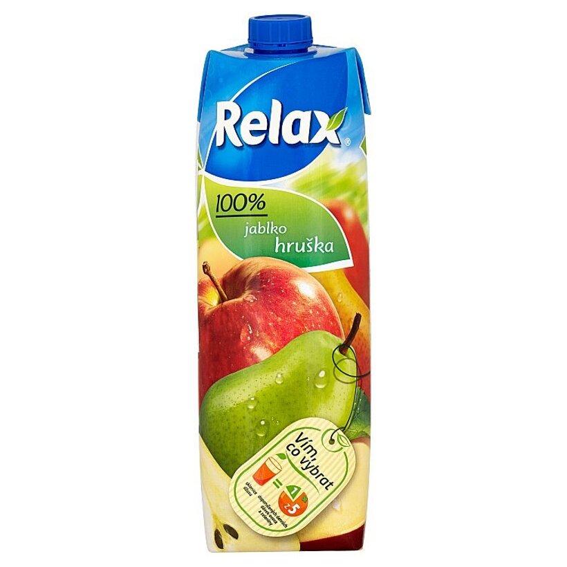 Relax 100% jablko hruška 1 l