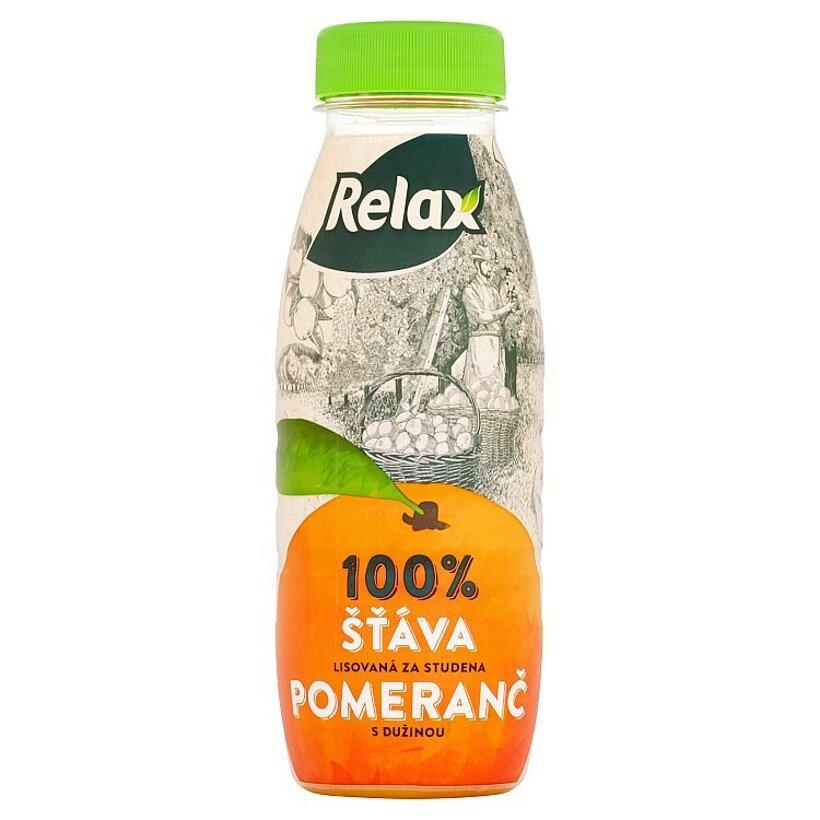 Relax 100% pomarančová šťava s dužinou 250 ml