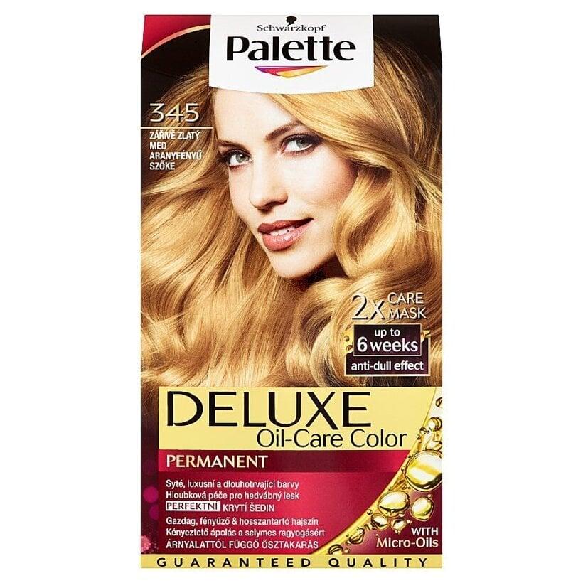Schwarzkopf Palette Deluxe farba na vlasy Žiarivozlatý Med 345