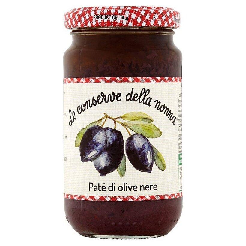 Le Conserve della Nonna Pasta z čiernych olív 190 g