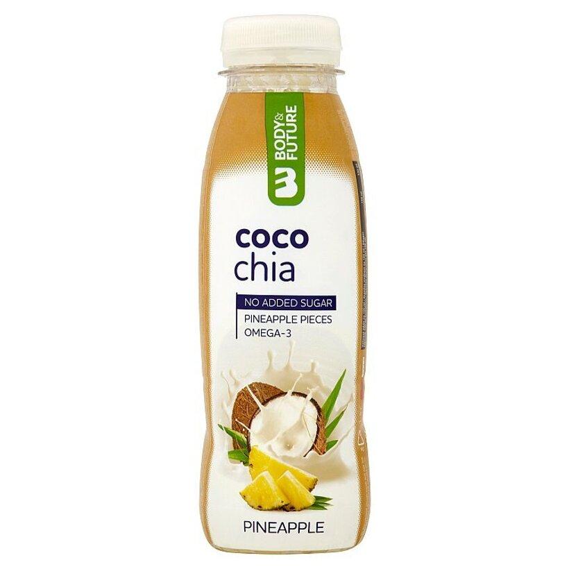 Body&Future Bezlaktózové kokosové mlieko s avokádovým pyré, ananásom a chia semienkami 330 ml