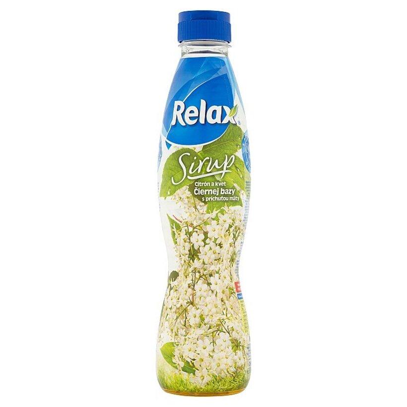 Relax Sirup citrón a kvet čiernej bazy s príchuťou mäty 700 ml