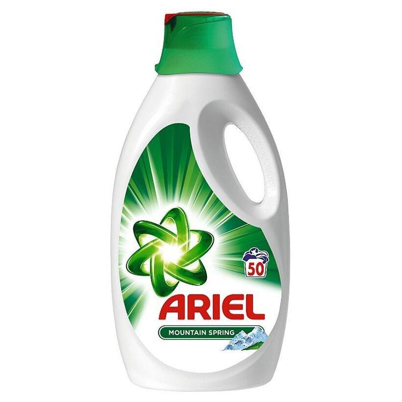 Ariel Mountain Spring Tekutý Prací Prostriedok 3250 ml Na 50 Praní