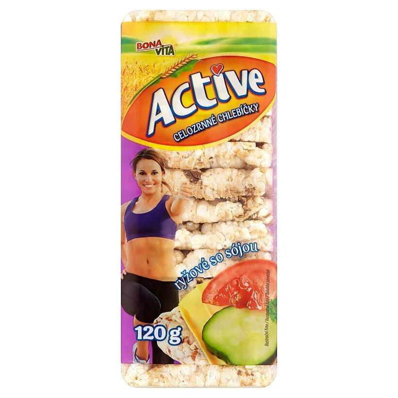 Bona Vita Active Celozrnné chlebíčky ryžové so sójou 120 g