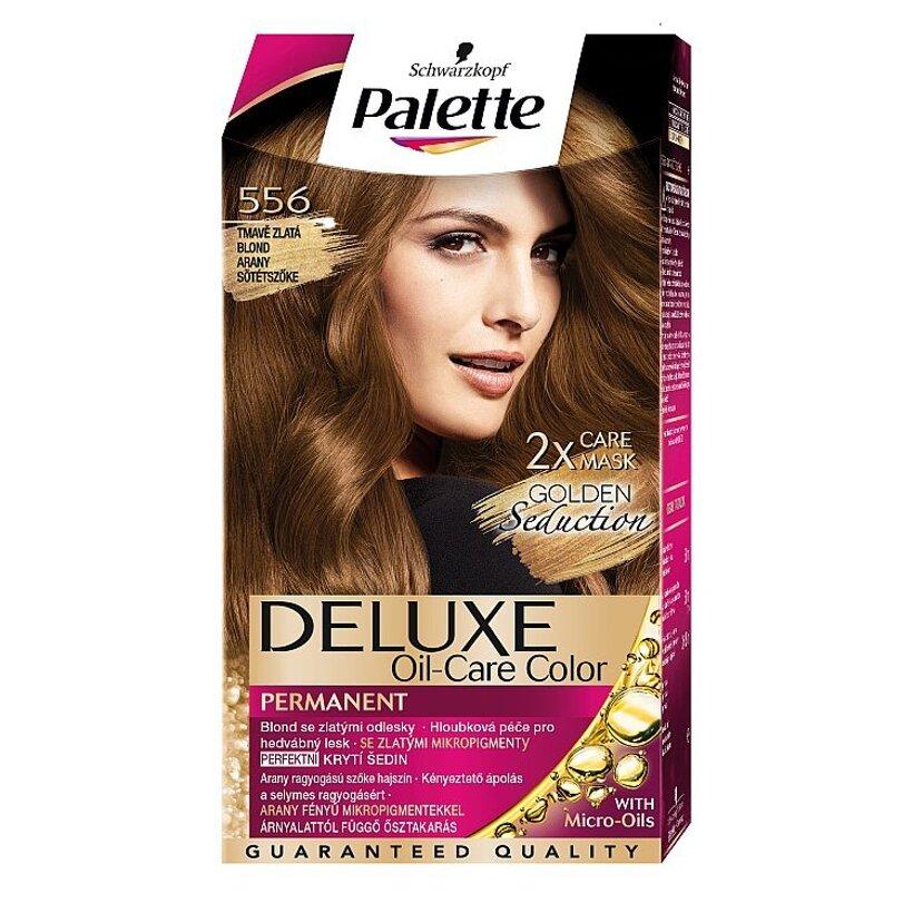Schwarzkopf Palette Deluxe farba na vlasy Zlatistý Tmavý Blond 556