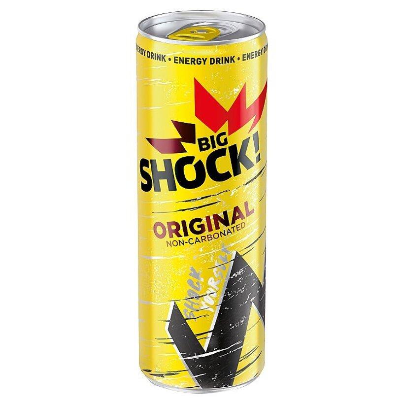 Big Shock! Original nesýtený energetický nápoj s príchuťou Tutti Frutti 330 ml