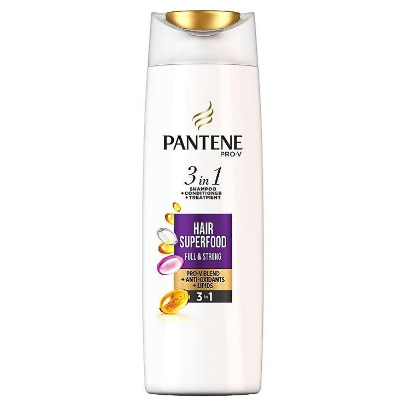 Pantene Pro-V Superfood 3 V 1 Šampón + Balzam + Ošetrenie, 360 ml