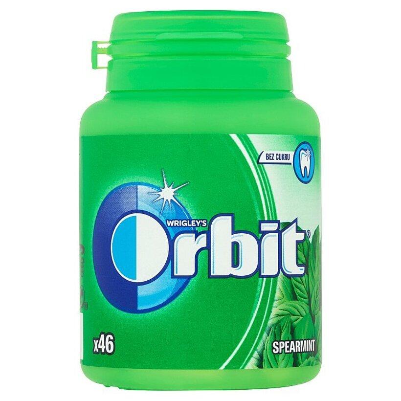 Wrigley's Orbit Spearmint žuvačka bez cukru s mätovou príchuťou 46 ks 64 g