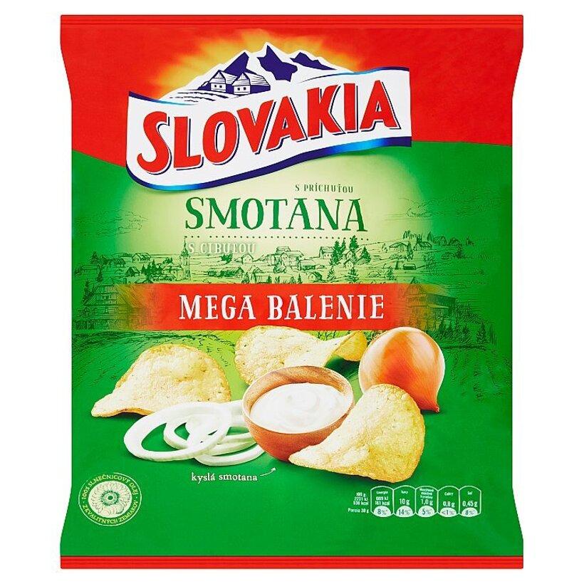 Slovakia Chips S príchuťou smotana s cibuľou 220 g