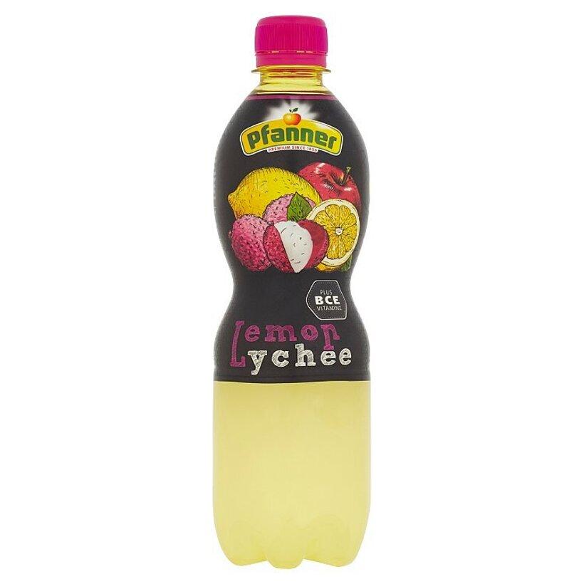 Pfanner BCE nápoj z viacerých druhov ovocia s príchuťou citrónu a liči 0,5 l
