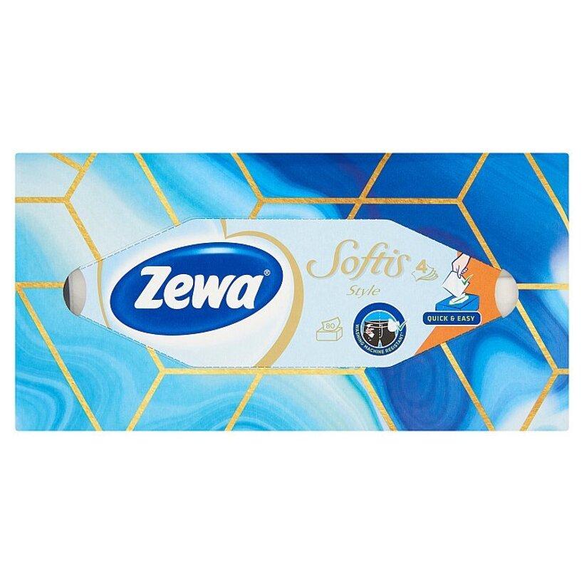 Zewa Softis Style papierové vreckovky 4-vrstvové 80 ks