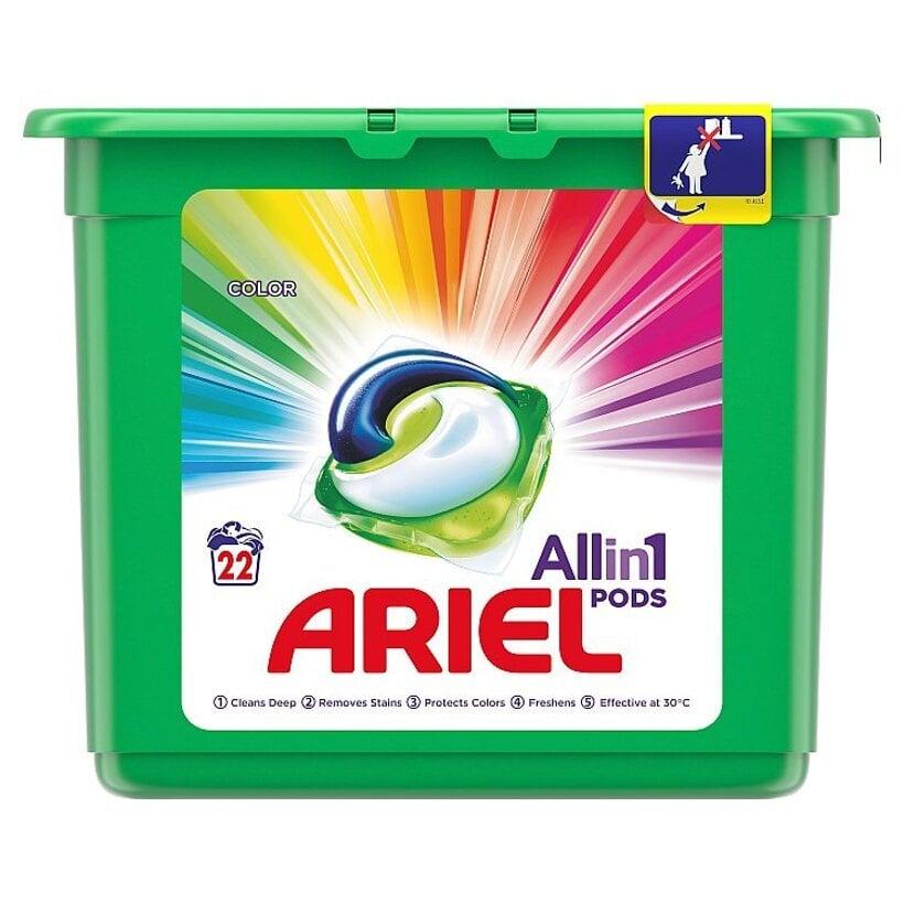 Ariel All In 1 Pods Color, Gélové Kapsuly Na Pranie, 22 Praní