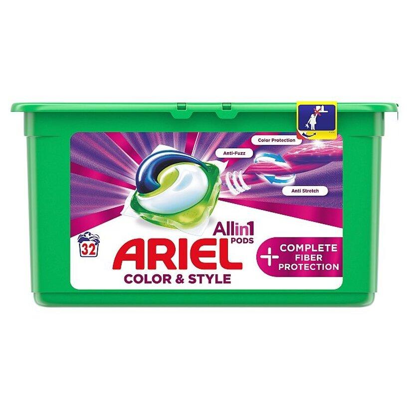 Ariel All In 1 Pods +Complete Fiber Care Gélové Kapsuly Na Pranie 32 Praní