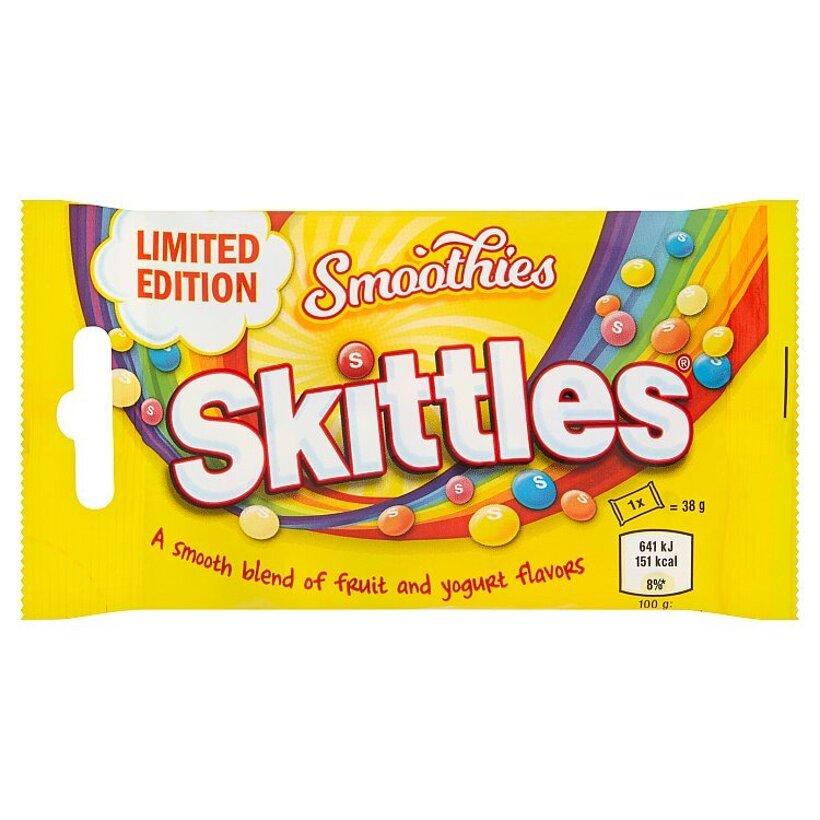 Skittles Smoothies žuvacie cukríky s ovocnými a jogurtovými príchuťami 38 g