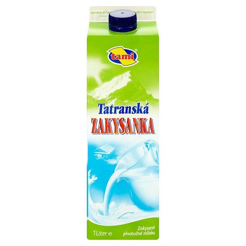 Tami Tatranská zakysanka zakysané plnotučné mlieko 1 l