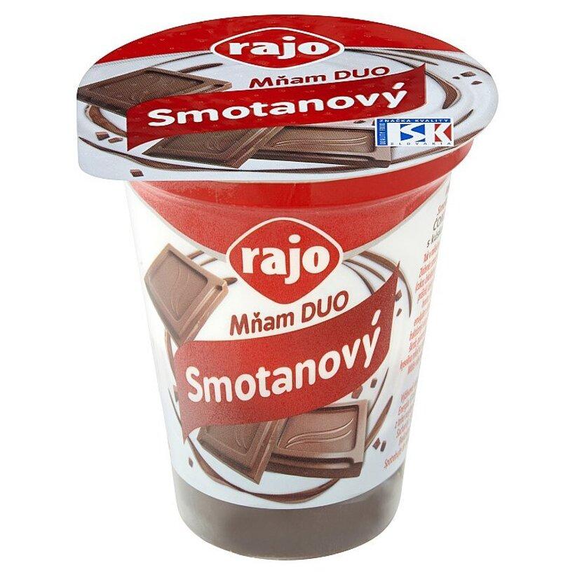 Rajo Mňam Duo Smotanový jogurt čokoládový s kúskami čokolády 145 g